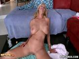 Busty Blonde MILF Enjoys Hardcore Pounding At Home
