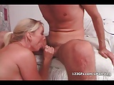 Big breasted blonde girlfriend suck and fuck cock