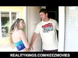 Sexy blonde teen seduces her older neighbor