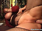 Mega boobed redhead gets craving wet