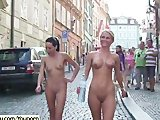 Leonelle And Laura Naked On Public Streets (part 2)