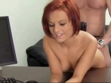 Redhead gets anal fucked