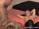 Three Amateur MILFs In Homemade Group Sex With Cumshots