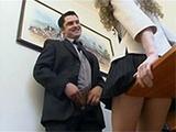 Horny Boss Attacks His Secretary In The Office