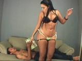Brazilian BBW woman facesits her slave