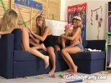 Allison And Friends Having A Lesbian Group Sex At Home