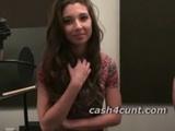 Cash turns brunette into a cock slut who  ...