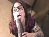 Interracial punk tattooed slut