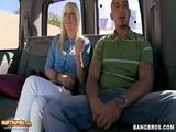 Hot Blonde GF Hardcore Pussy Banging In Van