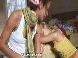 Two Horny Lesbians Masturbating Pussy