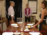 Ffm staff threesome on dinner table