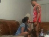 Gf blows her BFs monster cock