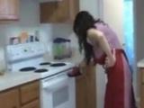 Milf Handjob In Kitchen