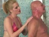 Teen Beauty Enjoying Sex With Grandpa