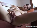 German single girl Inge Cumming on Couch