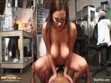 Titjob And Hardcore Interracial Fuck With Busty Employee