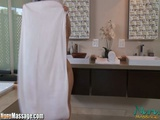 NuruMassage Asa Akira EMERGENCY Slippery Blowjob