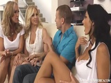 MILFs Ava Addams Brandi Love And Julia Ann Fucking On Naughty America