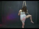 Asian Strung Up And Toyed