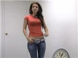 Sexy brunette Kayla hot casting sex