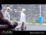 Jerking Off On Grannies In Public - Dickflash Videos