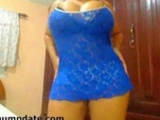 Beautiful Latin Babe With Mega Boobs Teasing