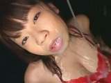 Mosaic: Japanese Lotion Girl in Red Dress