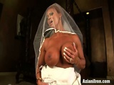 Wedding Dress Orgasm And Sex Machine