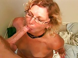 Mature blonde with glasses gets fucked
