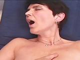 MILF Rozi enjoys a dildo and a cock