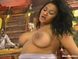 Big tits ebony screwed by old dude