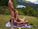 Angel enjoy her threesome holidays