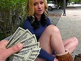 Beautiful Girl Accept Money For A Ride With Stranger