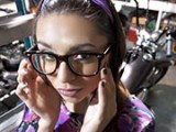 Glasses wearing slut fucked me