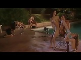 Group sex poolside