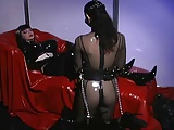 Hot Lesbian's In Tight Outfits Doing Bondage To Each Other.