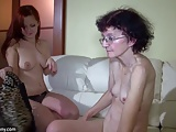Young Girl and old Granny masturbate together