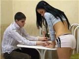 Nervous Girl 18 Seduce Virgin Mate