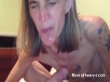 Skank Takes Oral Creampie - Skinny Videos