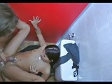 Babe fucked in public toilets by big dick old man