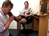 Handjob While Sniffing Black Nyloned Feet