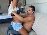 Amateur couple on private casting