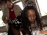 MAGMA FILM Black German whore picked up and fucked outdoor