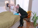 This Old Goes Guy Admired Lenkas Ass Before Licking Her Pussy
