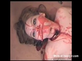 Naked Brunette slaughtered - Stab Videos