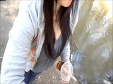 Asian Chick Outdoors Dick Sucking