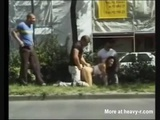 Public Roadside Gangbang - Gangbag Videos