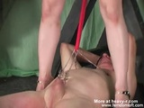 Mistress Plays With Clamped Balls - Clamps Videos