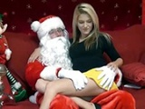 Slutty Girl Doesn't Hesitate To Make Santa Happy