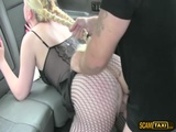 Appealing chick gets an untidy sweet jizz on her face